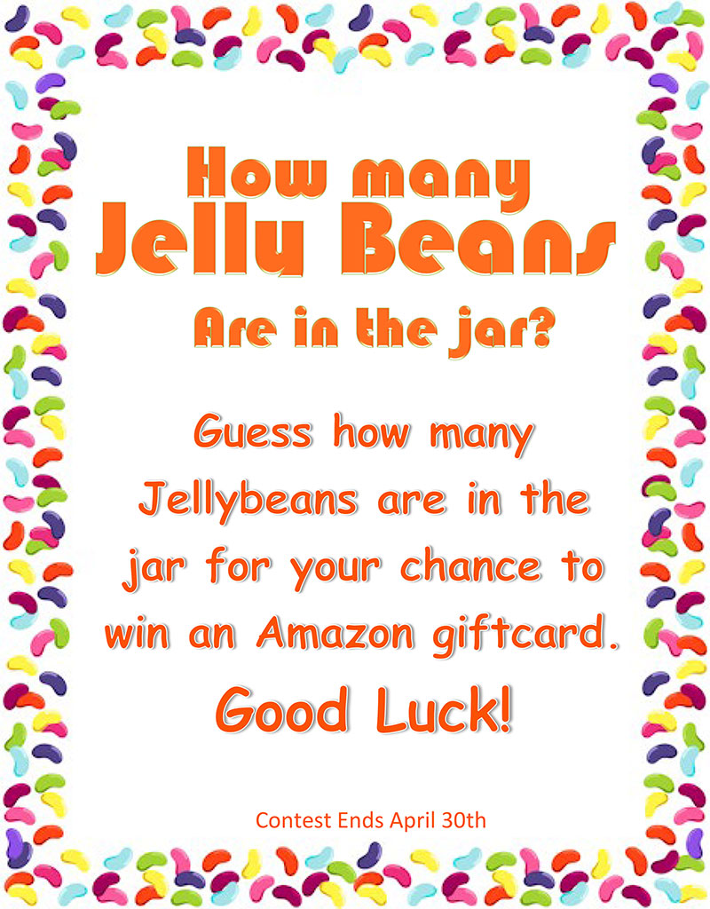 march Contes - Guess How Many Jellybeans are in the Jar